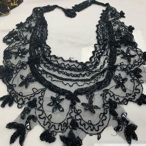 Beaded collar shawl
